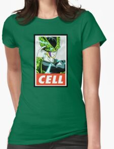 (DRAGON BALL Z) Cell Womens Fitted T-Shirt