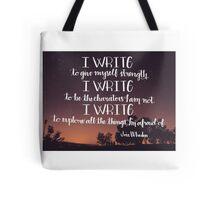 I Write Tote Bag