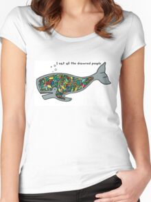 Whale Food Women's Fitted Scoop T-Shirt