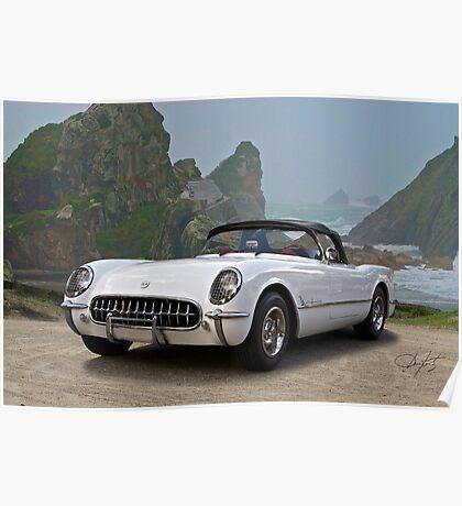1953 Chevrolet Classic Corvette Roadster Poster