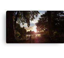 Sunset Over Lake Canvas Print