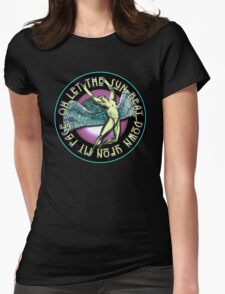 ICARUS THROWS THE HORNS - violet kashmir Womens Fitted T-Shirt