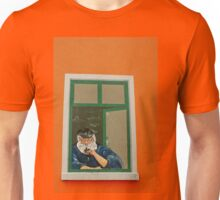 old Fisherman at an window - wall painting Unisex T-Shirt