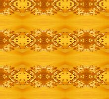 Golden Hibiscus Abstract Pattern by taiche