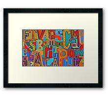 Colourful Alphabet Wall Arts Framed Print