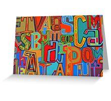 Colourful Alphabet Wall Arts Greeting Card