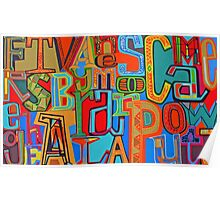 Colourful Alphabet Wall Arts Poster