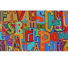 Colourful Alphabet Wall Arts Photographic Print