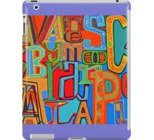 Colourful Alphabet Wall Arts iPad Case/Skin