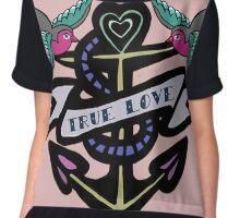 True Love Tattoo Chiffon Top