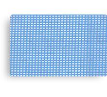 Blue Knit Canvas Print