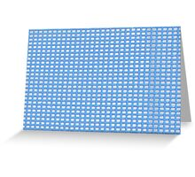Blue Knit Greeting Card