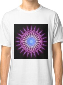 Lightning mandala in pink, blue and yellow pastel tones Classic T-Shirt
