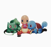 Charmander, Bulbasaur and Squirtle playing :D One Piece - Short Sleeve