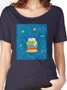 Sleeping Cat - Universe Women's Relaxed Fit T-Shirt
