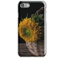 Sunflower in a basket iPhone Case/Skin