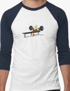 Bench press Duck Men's Baseball ¾ T-Shirt