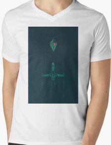 Minimalist No Mans Sky Mens V-Neck T-Shirt