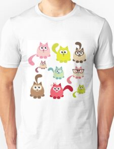 Cute cartoon cats,super girly,kawaii,trendy,modern,colorful Unisex T-Shirt