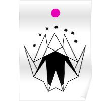 GEOMETRIC MOUNTAINS WITH BLACK 7 Poster