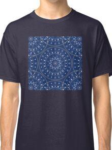 Blue White Mandalas Classic T-Shirt