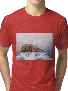 Bass Rock Firth of Forth Scotland Tri-blend T-Shirt
