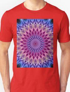 Mandala in pastel blue and pink tones Unisex T-Shirt