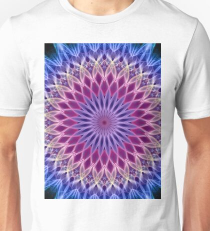 Mandala in pastel blue and pink tones Unisex T-Shirt