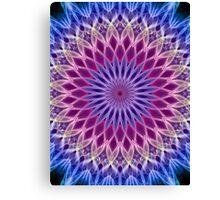 Mandala in pastel blue and pink tones Canvas Print