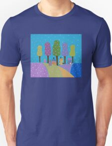 Trees, Houses and Cats Unisex T-Shirt