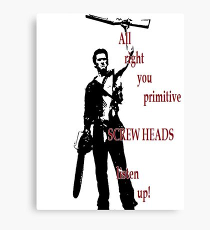Army of Darkness- Screw Heads Canvas Print