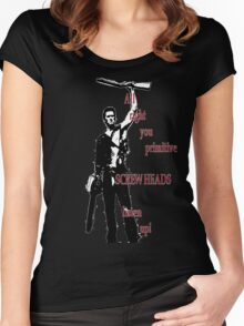 Army of Darkness- Screw Heads Women's Fitted Scoop T-Shirt