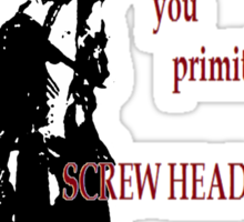 Army of Darkness- Screw Heads Sticker
