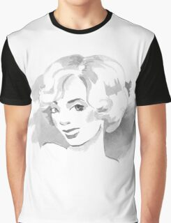 Watercolor sketch. Blonde. Graphic T-Shirt