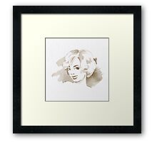 Watercolor sketch. Blonde. Framed Print