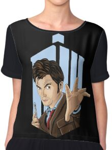 Doctor Who: Tenth Doctor  Chiffon Top