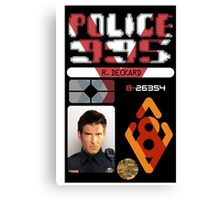 R.DECKARD ID BADGE Canvas Print