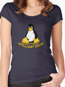 Linux Penguin Intelligent Design Women's Fitted Scoop T-Shirt