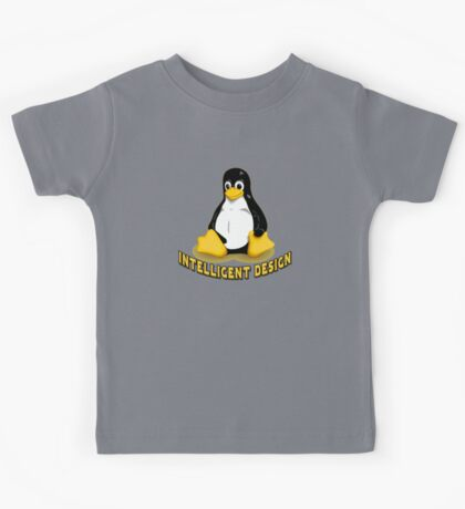 Linux Penguin Intelligent Design Kids Tee