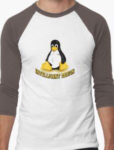 Linux Penguin Intelligent Design Men's Baseball ¾ T-Shirt