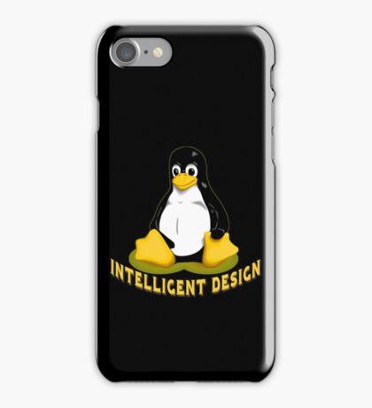 Linux Penguin Intelligent Design iPhone Case/Skin