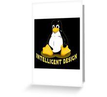 Linux Penguin Intelligent Design Greeting Card