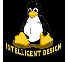 Linux Penguin Intelligent Design Photographic Print