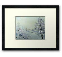 Winter Visitors Framed Print
