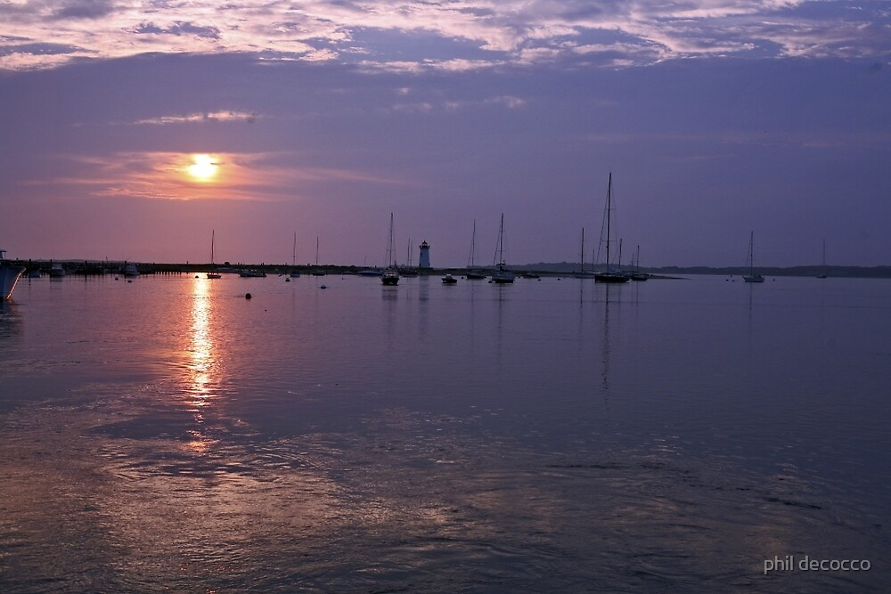 Sunrise, Edgartown Light by phil decocco