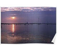 Sunrise, Edgartown Light Poster