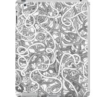 Intricate tangled doodles iPad Case/Skin
