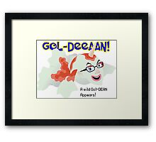 A wild Gol-Dean appears! Framed Print