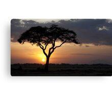 Kenyan Sundown Canvas Print