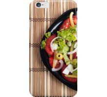 Top view on a vegetable salad with natural ingredients iPhone Case/Skin